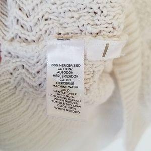 LOFT Sweaters - LOFT White 3/4 Sleeve Heavy Knit Sweater